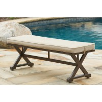 Moresdale - Brown - Bench with Cushion