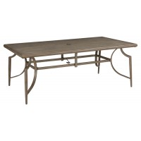 Partanna - Blue/Beige - RECT Dining Table w/UMB OPT