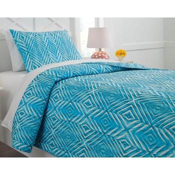 Jolana - Turquoise - Twin Quilt Set