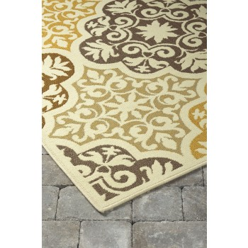 Lacy - Brown/Gold - Medium Rug