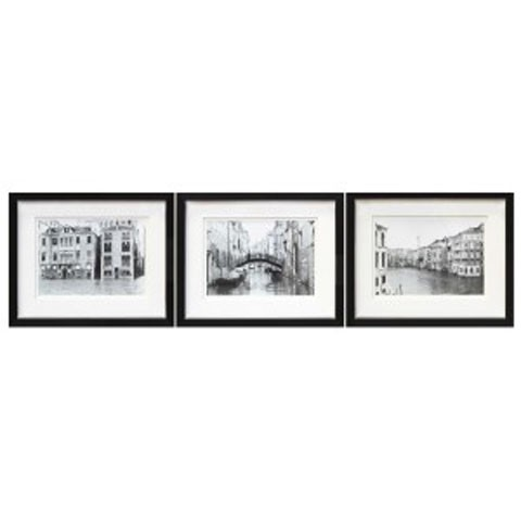 Doga black white wall art set 3 cn