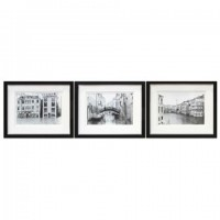 Doga - Black/White - Wall Art Set (3/CN)