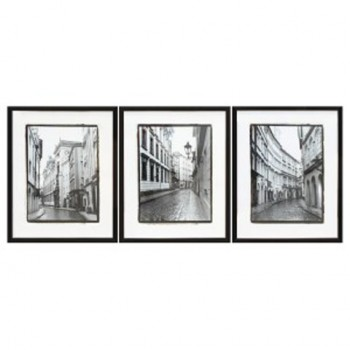 Dorcas - Black/White - Wall Art Set (3/CN)