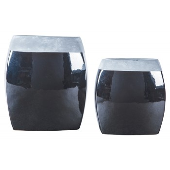 Derring - Black/Nickel Finish - Vase Set (2/CN)