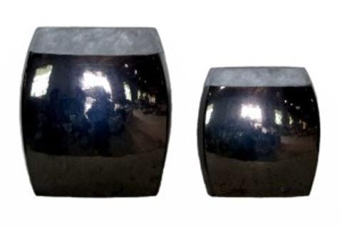 Derring - Black/Nickel Finish - Vase Set (2/CN)