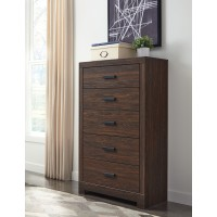 Arkaline - Brown - Five Drawer Chest