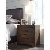 Arkaline - Brown - Two Drawer Night Stand
