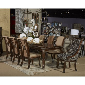 Valraven - Brown - Dining UPH Arm Chair (2/CN)