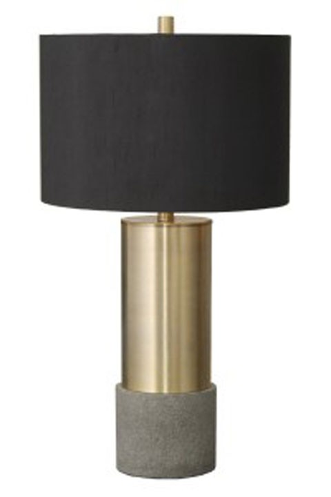 Jacek - Gray/Brass Finish - Metal Table Lamp (2/CN)