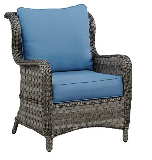 Abbots court blue gray lounge chair w cushion 2 cn