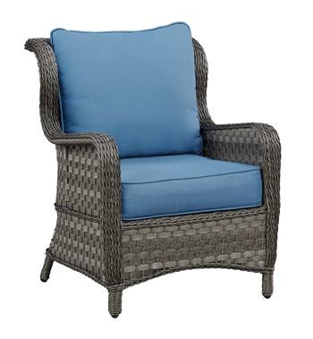 Abbots Court - Blue/Gray - Lounge Chair w/Cushion (2/CN)