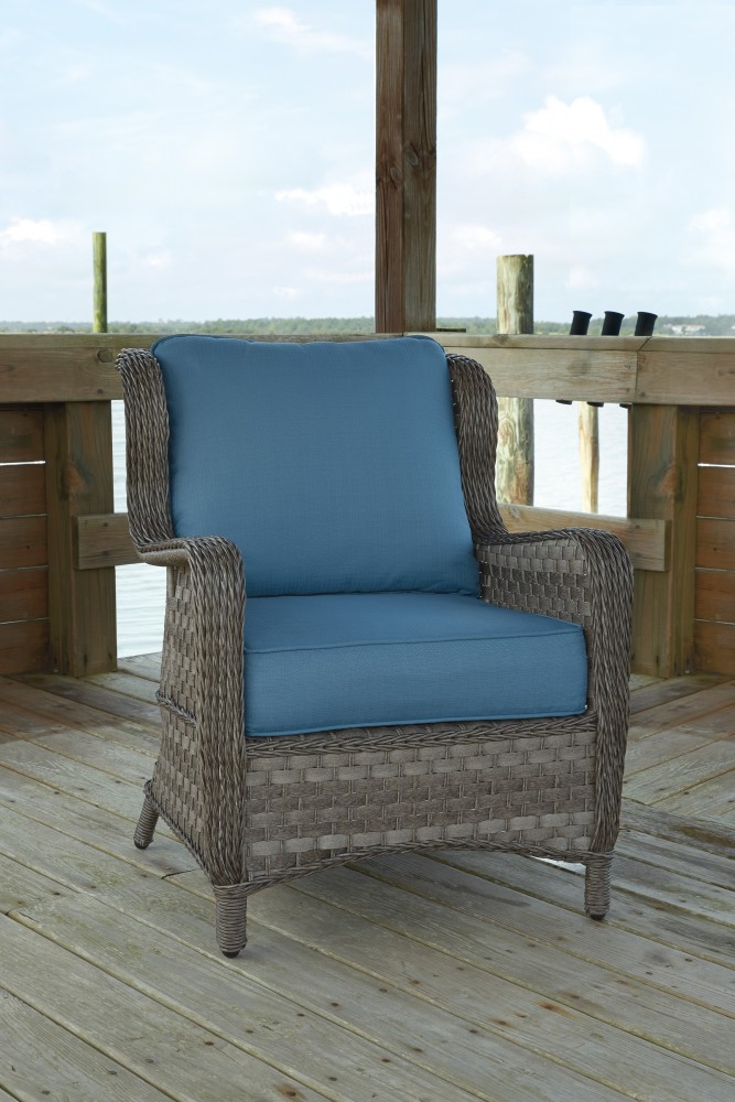 Abbots Court - Blue/Gray - Lounge Chair w/Cushion (2/CN)