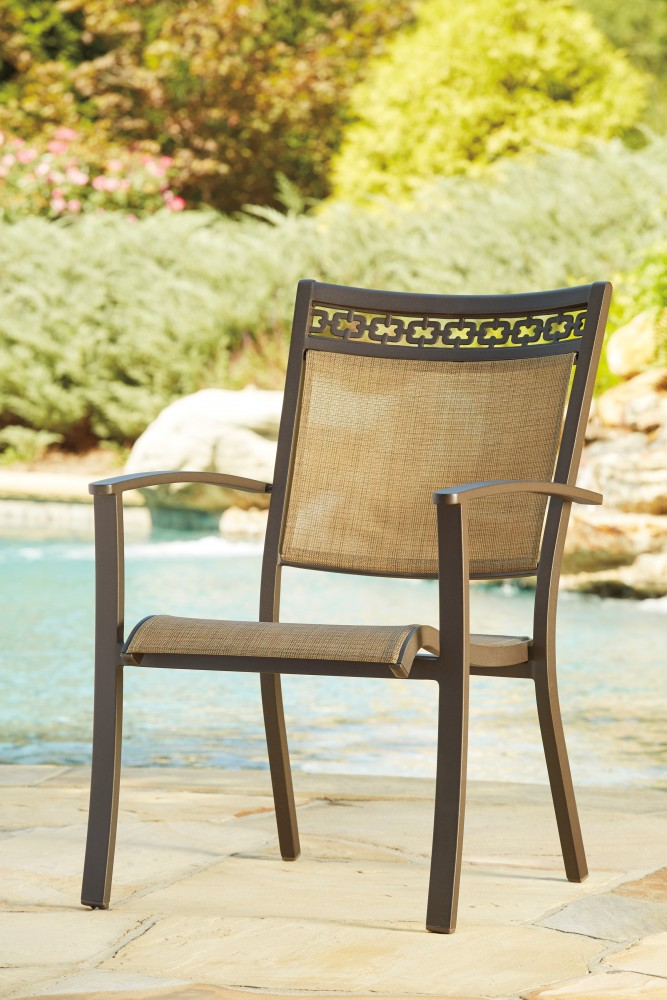Carmadelia Tan Brown Sling Chair 4 Cn P376 601a Outdoor