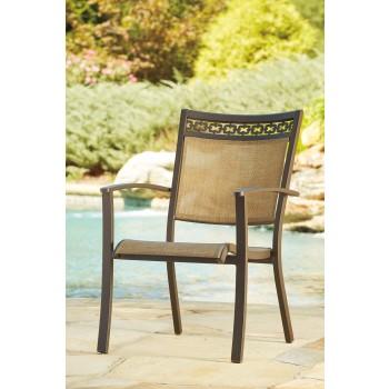 Carmadelia - Tan/Brown - Sling Chair (4/CN)