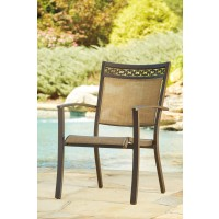 Carmadelia - Tan/Brown - Sling Chair (4/CN)