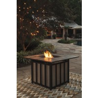Wandon - Beige/Brown - Square Fire Pit Table