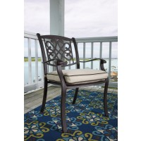 Burnella - Brown - Chair with Cushion (4/CN)