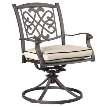 Burnella - Brown - Swivel Chair w/Cushion (2/CN)