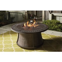 Burnella - Brown - Round Fire Pit Table Base