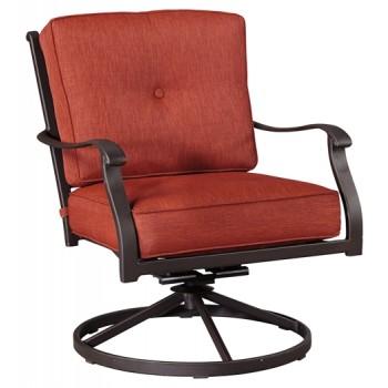 Burnella - Brown - Swivel Lounge Chair (2/CN)
