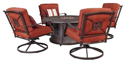 Burnella   Brown   Swivel Lounge Chair (2/CN)