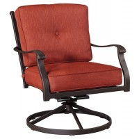 Burnella - Brown - Swivel Lounge Chair (2/CN)