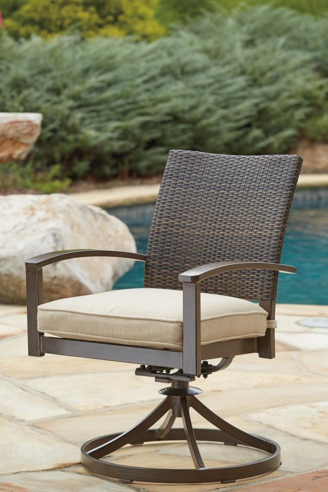 Moresdale - Brown - Swivel Chair w/Cushion (2/CN)