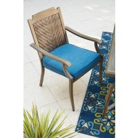 Partanna - Blue/Beige - Chair with Cushion (4/CN)