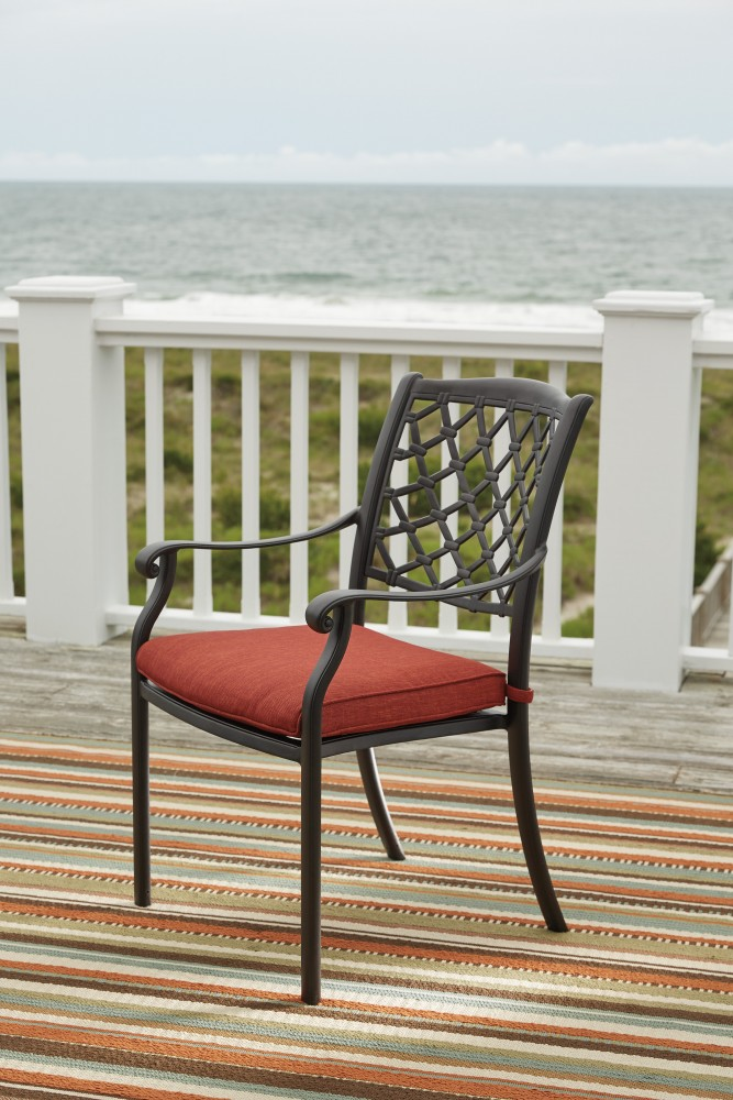 Tanglevale   Burnt Orange   Chair With Cushion (4/CN)