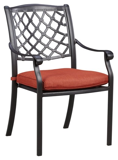 Tanglevale - Burnt Orange - Chair with Cushion (4/CN)