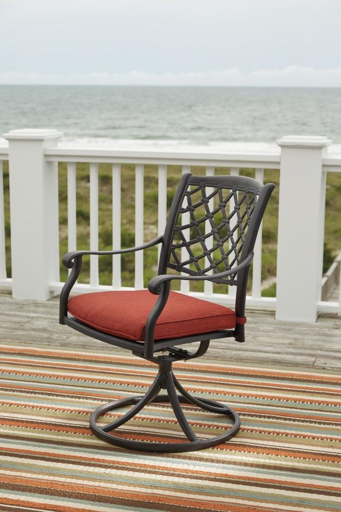 Tanglevale   Burnt Orange   Swivel Chair W/Cushion (2/CN)