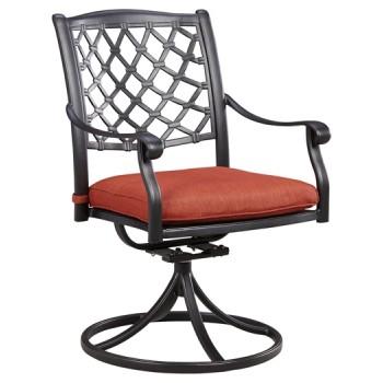 Tanglevale - Burnt Orange - Swivel Chair w/Cushion (2/CN)