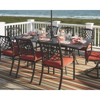 Tanglevale - Burnt Orange - RECT EXT Table w/ UMB Option