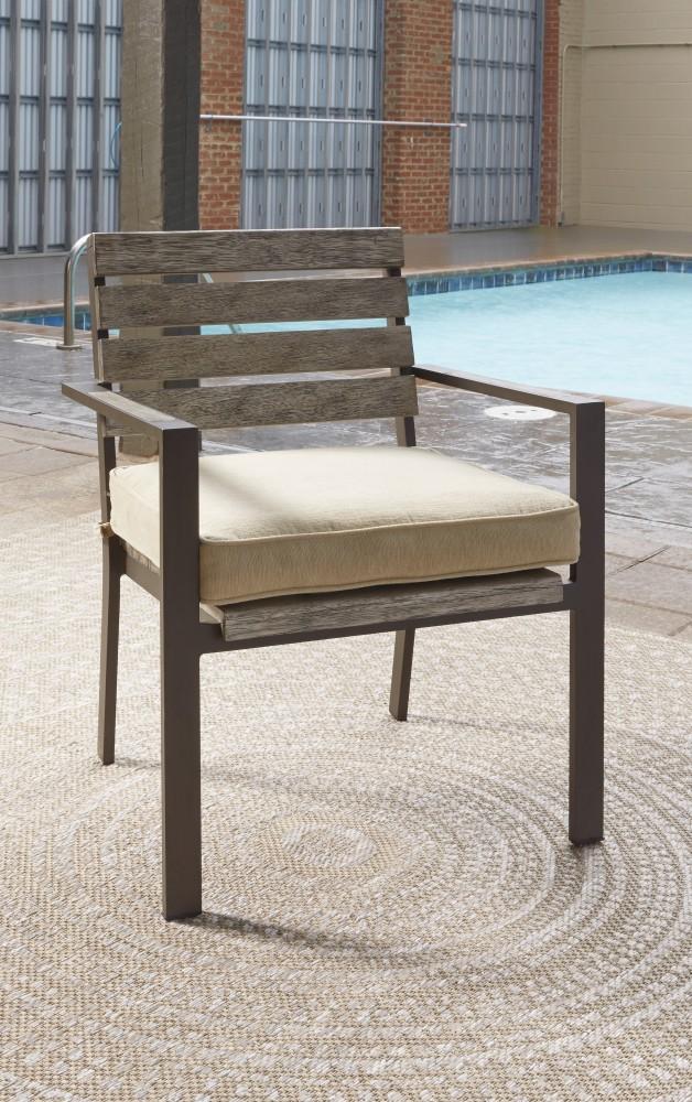 Peachstone - Beige/Brown - Chair with Cushion (2/CN)
