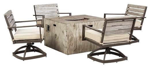 Peachstone - Beige/Brown - Swivel Chair w/Cushion (2/CN)
