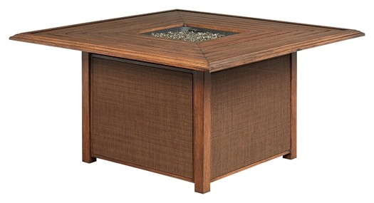 Zoranne - Beige/Brown - Square Fire Pit Table