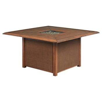 Zoranne - Beige/Brown - Square Fire Pit Table