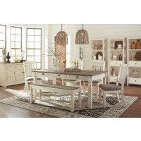 Bolanburg RECT Dining Table, 4 UPH Side Chairs & UPH Bench