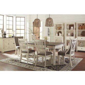 Bolanburg RECT Dining Table & 6 UPH Side Chairs
