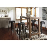 Pinnadel  Dining Room Bar Tabl & 4 Tall Stools