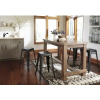 Pinnadel RECT Dining Room Counter Table & 4 Stools