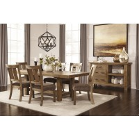 Tamilo - Gray/Brown - RECT Dining Room EXT Table & 6 UPH Side Chairs