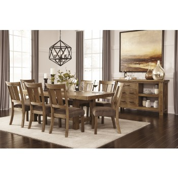 Tamilo Gray Brown Rect Dining Room Ext Table Amp 8 Uph