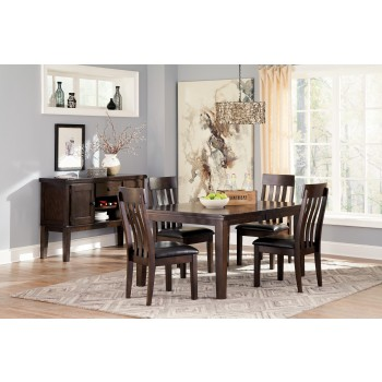 Haddigan RECT Dining Room EXT Table & 4 UPH Side Chairs