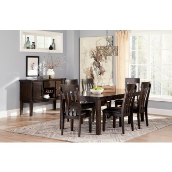 Haddigan RECT Dining Room EXT Table & 6 UPH Side Chairs