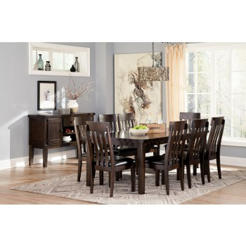 Haddigan RECT Dining Room EXT Table & 8 UPH Side Chairs