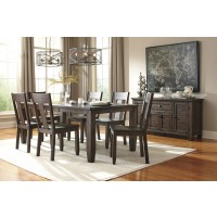 Trudell - Golden Brown - RECT Dining Room EXT Table & 6 Side Chairs