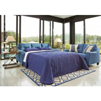 Forsan Nuvella - Blue - Queen Sofa Sleeper