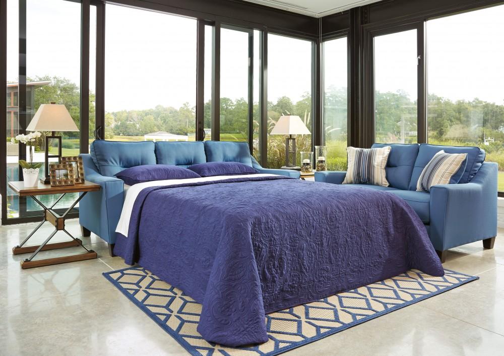 Forsan Nuvella - Blue - Queen Sofa Sleeper