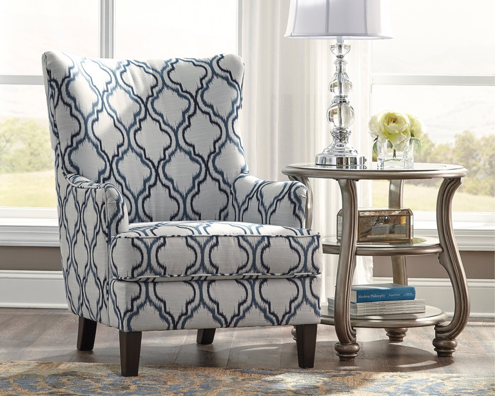 Accent Chairs.Lavernia Navy Accent Chair